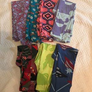 Lot of 7 S/M LulaRoe kids leggings
